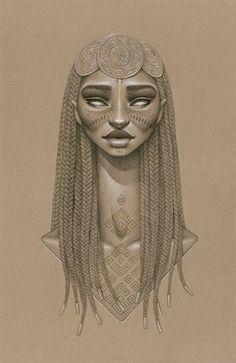 Sara K. Golish: Sundust on Facebook Sundust is a new series of ten portraits of fictional sun goddesses by Toronto-based visual artist Sara Golish