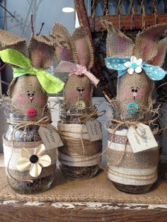 Burlap Easter bunny by thelittlegreenbean on Etsy, $26.00