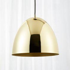 Capitol Small Brass Bell Pendant Light - All For Decoration Kitchen Pendant Lighting, Kitchen Pendants, Modern Pendant Light, Modern Chandelier, Chandeliers, Pendant Lights, Modern Home Bar, Gold Interior, Interior Modern