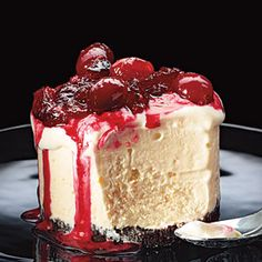 13 Beautiful Desserts | Frozen Orange Tortes with Cranberry Compote | CookingLight.com