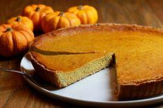 Tarte à la citrouille (sucrée !) Sans Gluten Thermomix, Thermomix Desserts, Cornbread, Thanksgiving, French Toast, Cheese, Breakfast, Ethnic Recipes, Diy Halloween