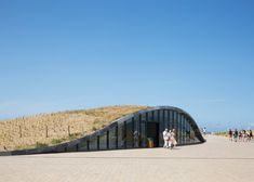 An underground car park by Royal HaskoningDHV serves to reinforce the town's flood defences in the coastal town of Katwijk, Holland