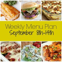 Weekly Menu Plan - September 8th-14th
