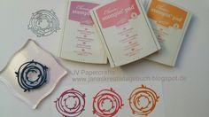 JV Papercrafts: Eigene Stempel herstellen mit Moosgummi. Make your own stamps with foam. Wunderbar verwickelt Thinlits
