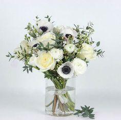 Bouquet de fleurs blanches Bergamotte