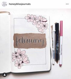 February Bujo Cover | Bujo February | Bullet Journal Februaury #bulletjournal #february