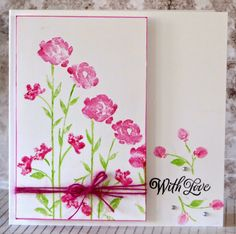 Stampin' Up! ... hand crafted card from The Making Room ... Painted Petals ... sweet !