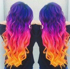 Can't ever resist sunset hair  @valentinalely_petaccia by arcticfoxhaircolor