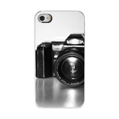 Iphone 4 Case, Vintage Camera,Back To School, Iphone 4 / Iphone 4s-Black And White Retro Camer Photography Decorative Case