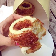 Cronuts from Dominique Ansel Bakery: | 18 Foods Everyone Must Try Before Leaving NYC