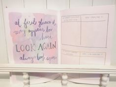 'At First Glance It May Appear Too Hard. Look Again. Always Look Again.' - My hardest challenge in the past year. - How I overcome it. - My biggest current challenge. - How I can overcome it.