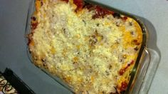 "Made Trisha Yearwood's Baked Spaghetti on my ""Recipes to Try"" board tonight.  It gets a big thumbs up!!"