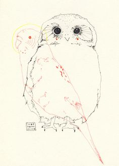 """an owl and a parakeet"" charmaine olivia"