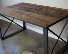 Industrial Desk with drawers. Modern industrial table. von leecowen