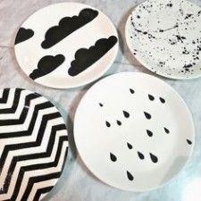 Organize sem Frescuras | Rafaela Oliveira » Arquivos » Faça você mesmo: louças decoradas com caneta