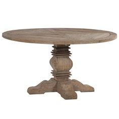 Reclaimed Pine Round Dining Table - H D in Home, Furniture & DIY, Furniture, Tables Pine Dining Table, Reclaimed Wood Dining Table, Pedestal Dining Table, Reclaimed Wood Furniture, Extendable Dining Table, Wood Table, Kitchen Tables, Industrial Furniture, French Furniture