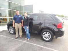 Anthony Boudreau and the rest of us here at Court Street Ford would like to congratulate Stephanie Purnell of Kankakee on the purchase of her 2013 Ford Edge.  Thank you for your business Stephanie!