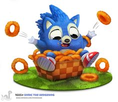 Daily+Painting+1685#+Sonic+The+Hedgehog+by+Cryptid-Creations.deviantart.com+on+@DeviantArt