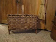 Wool drying basket handwoven primitive reproduction...available on Etsy from 1803ohiofarmbaskets