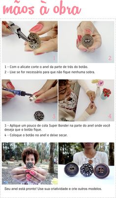 DIY - ANEL DE BOTÃO | SENHORA BAGUNÇA DIY