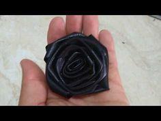 Flor rococó couro sintético!! - YouTube