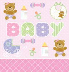 Pink Teddy Bear Plastic Banquet Tablecloths