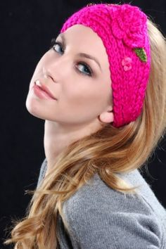 Pretty Pink Knitted Headband