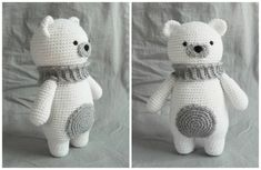 polar bear amigurumi free crochet pattern