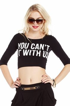 """Queen of Mean """"You Can't Sit With Us"""" Top only $11.99"""