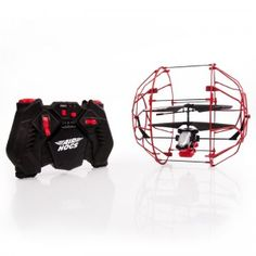 The Air Hogs R/C Roller Copter is an indoor R/C helicopter encased in a lightweight cage made for flying, rolling across floors and up walls.