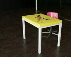 Post-it table by Soup Studio Design. Yes!