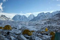 Camping while climbing mountains