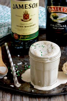 Boozy St. Patrick's Day Milkshake | www.floatingkitchen.net