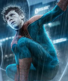 Galaxy Fantasy: Fan art: Tom Holland vistiendo el traje de Spiderman