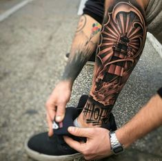 14 Amazing Leg Tattoos you should try - DarlingNaija Dope Tattoos, Hand Tattoos, Unique Tattoos, Body Art Tattoos, Tribal Tattoos, Tattoos For Guys, Forearm Sleeve Tattoos, Calf Tattoo, Forearm Tattoo Men