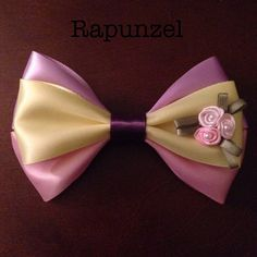 Rapunzel Disney ribbon hair bow barrette by EclecticGeekette, $7.50