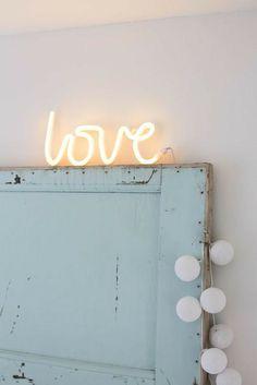 Bedroom Color Schemes, Bedroom Colors, Colour Schemes, Neon Letter Lights, Light Letters, Neon Sign Bedroom, Bedroom Decor, Light Up Words, Neon Quotes