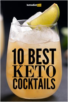 Cocktails on keto: the ultimate guide to how alcohol affects ketosis and the best keto cocktails and low carb alcoholic drinks.