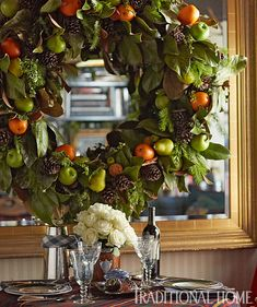 Creating a Traditional Holiday Home - My Kentucky Living Wreaths And Garlands, Holiday Wreaths, Christmas Decorations, Christmas Greenery, Autumn Wreaths, Holiday Ideas, All Things Christmas, Christmas Home, Christmas Holidays
