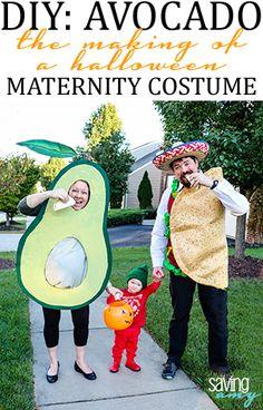 DIY: Avocado Maternity Halloween Costume #maternitycostume #halloweencostume #halloween #avocado #tacotuesday #diy #doityourself #pregnant #expectantmother