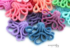8pc spooky octopus cabochons, matte resin, flatback for gluing to hairpins and rings 35mm by snapcrafty on Etsy https://www.etsy.com/listing/89760629/8pc-spooky-octopus-cabochons-matte-resin