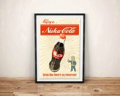 Fallout 4 Enjoy a Nuka-Cola Poster Vault Boy by ManCaveStore #Fallout4 #Fallout #Giftideas