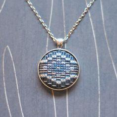 Southwest Diamond Cross stitch pendant necklace by TheWerkShoppe, $34.00