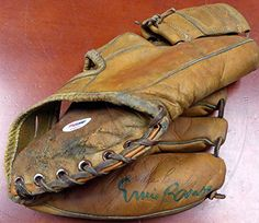 Ernie Banks Autographed Baseball Glove Chicago Cubs PSA/DNA ** Read more reviews of the product by visiting the link on the image.