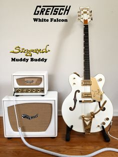Siegmund Muddy Buddy Head & Cab and Gretsch Falcon Vintage Electric Guitars, Cool Electric Guitars, Vintage Guitars, Guitar Girl, Cool Guitar, Rockabilly Music, Gretsch, Custom Guitars, Guitar Strings