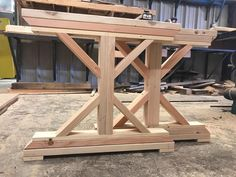 Set of Build your own Farmhouse dining table with adding runners to these legs to complete your table base. Set of 2 legs included. Dimensions are tall X wide X deep per leg. Farm Table Legs, Diy Table Legs, Wood Table Bases, Dining Table Legs, Table Frame, Wooden Tables, Bench Legs, Bed Frame, 2x4 Table
