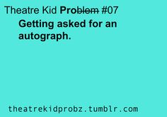 cutest thing: Miky and I were walking out into the audience after closing night for Aladdin and this little girl runs up to him with a pen, points at his head shot and asks for his autograph ^_^