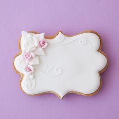 Cookies royal icing. Galletas glasé real. rosas glase real. Rosa María Escribano.