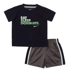 Nike Eat, Sleep, Dominate Tee and Shorts Set - Baby