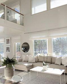 @xxveroniquexx Living Room Interior, Home Interior Design, Living Room Decor, Casa Loft, House Layouts, Luxury Living, Modern Living, Home Decor Furniture, Modern House Design